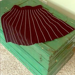 A-line, pleated, pinstriped skirt by LOFT
